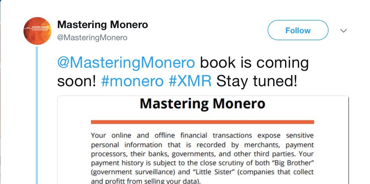 Mastering Monero выпустит свою книгу с рекомендациями по использованию валюты